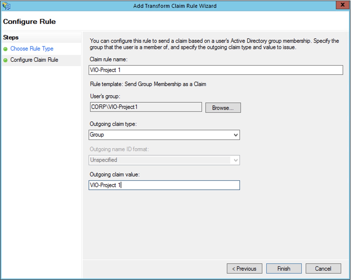 Setting up ADFS Federation with VMware Integrated OpenStack